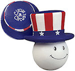 Patriotic Mad Cap Stress Balls